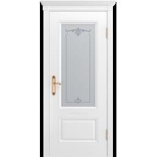 Ульяновская дверь Британия-1 белая эмаль ДО