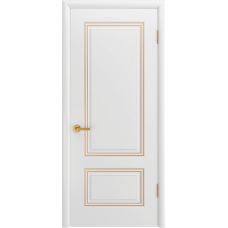 Ульяновская дверь Британия-1С белая эмаль патина золото ДГ