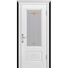 Ульяновская дверь Британия-3 белая эмаль ДО