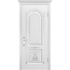 Ульяновская дверь Ода-1 белая эмаль ДГ
