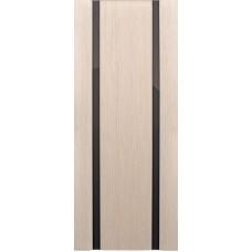 Ульяновские двери Спектр-2 белёный дуб ДО чёрное