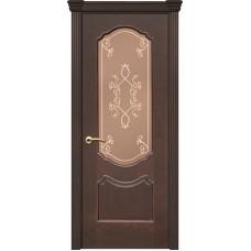 Ульяновские двери Рубин-2 красное дерево тёмное ДО