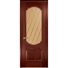 Ульяновские двери Венеция красное дерево ДО