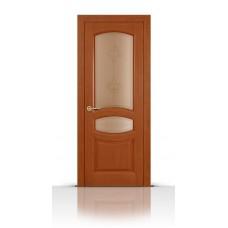 Дверь СитиДорс модель Топаз цвет Анегри темный стекло