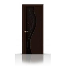 Дверь СитиДорс модель Корунд цвет Венге стекло