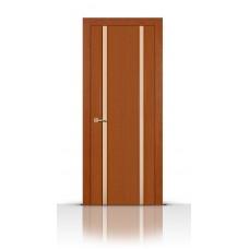 Дверь СитиДорс модель Циркон-2 цвет Анегри темный триплекс белый