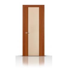 Дверь СитиДорс модель Циркон-3 цвет Анегри темный триплекс белый