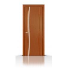 Дверь СитиДорс модель Жемчуг-1 цвет Анегри темный триплекс белый