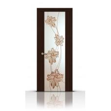 Дверь СитиДорс модель Нежность цвет Венге зеркало