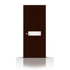 Дверь СитиДорс модель Турин-1 цвет Ясень шоколад триплекс белый