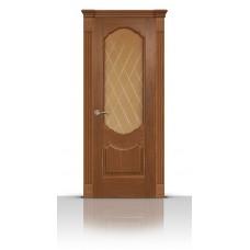 Дверь СитиДорс модель Гиацинт цвет Американский орех стекло Ромб