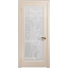 Дверь DioDoor Миланика-1 беленый дуб белое пескоструйное Миланика