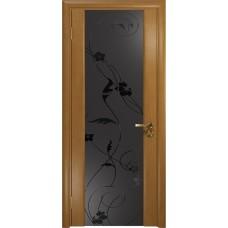 Дверь DioDoor Винтаж-2 анегри черный триплекс Вьюнок матовый