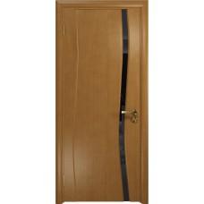 Дверь DioDoor Грация-1 анегри черный триплекс Вьюнок глянцевый