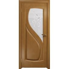 Дверь DioDoor Диона-1 анегри белое пескоструйное Лилия