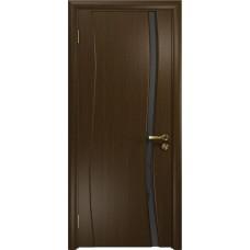 Дверь DioDoor Грация-1 венге черный триплекс Вьюнок матовый