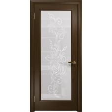 Дверь DioDoor Миланика-1 венге белое пескоструйное Миланика
