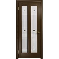 Дверь DioDoor Тесей венге белое пескоструйное Ромб