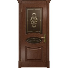 Дверь DioDoor Санремо красное дерево бронзовое пескоструйное Вдохновение