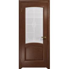 Дверь DioDoor Ровере красное дерево белое пескоструйное Корено