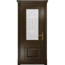 Дверь DioDoor Кардинал американский орех белое пескоструйное Кардинал