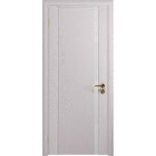 Дверь DioDoor Триумф-1 ясень белый ярко белое стекло