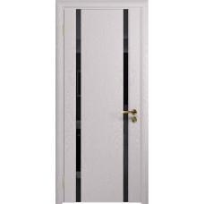 Дверь DioDoor Триумф-2 ясень белый черный триплекс