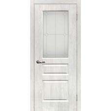 Дверь МариаМ Версаль-2 Дуб жемчужный стекло контур серебро